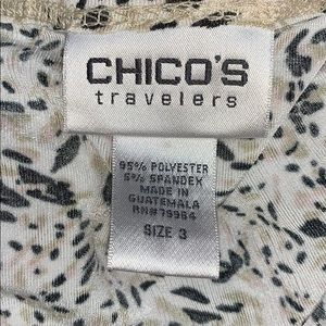 Chico's Tops - Chico's Travelers Size 3 Tank Top Gold Shimmer